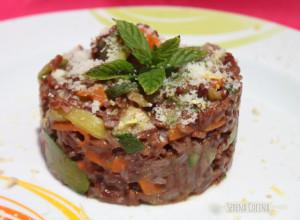SerenaCucina - Riso rosso integrale con verdure