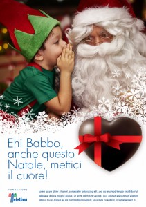 mettici il cuore -   bozza campagna promozionale Natale Telethon