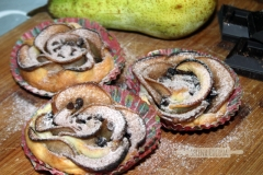 SerenaCucina - Rose di sfoglia con pere e cioccolato