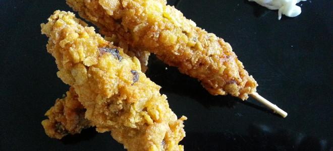 Spiedini croccanti di carne alla paprika