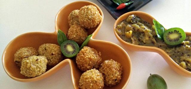 Polpettine di quinoa e chutney di Nergi®